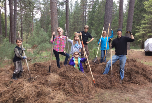 Community Service at Yosemite Wawona Charter School - photo courtesy Chad Andrews 2015