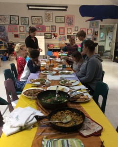 Cooking class at Yosemite Wawona School - photo courtesy Chad Andrews 2015