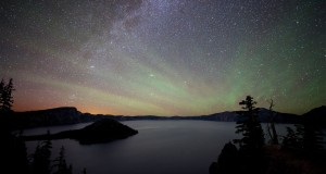 Crater Lake Sky Glow by Dark Sky Photography