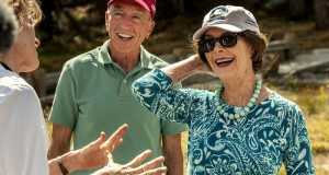 July 28,  2015--Tioga Road Rededication Ceremony-- Former First Lady and NPS Centennial Co-Chair Laura Bush was the honored guest at the historic ceremony commemorating the 100th anniversary of the original dedication of the Tioga Road. Mrs. Bush is an avid National Park supporter and was joined by National Park Service and Yosemite Conservancy officials at the ceremony yesterday. Photo by Al Golub/Yosemite Conservancy.