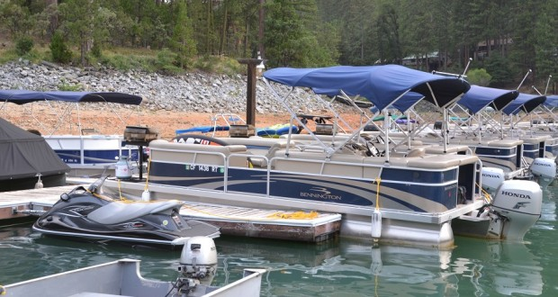Wave Runner and Pontoon boat involved in fatal accident on Bass Lake - photo by Gina Clugston