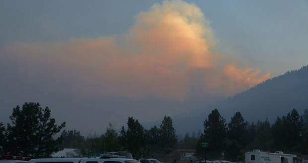 Willow Fire over Command Post 6 a.m. Monday