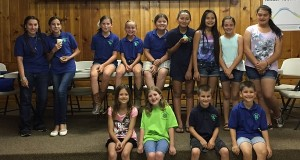 Pictured (back L to R):  Larissa Garcia, Erin McCully, Ava Gresham, Kylie Colon, Lexey Jenkins, Eden Hussey, Emma Hussey, Ellie Morris, Annalise Greene Pictured (front  L to R):  Makayla Beckstead, Jordyn McCully , Robby Gresham and David Sparks