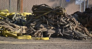 Hose piled for rewinding