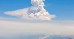 Wayne Coe photograph of air from Clovis during the Willow Fire