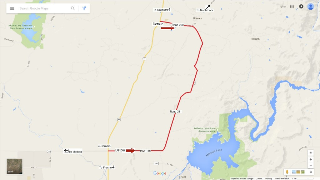 Detour Map Highway 41