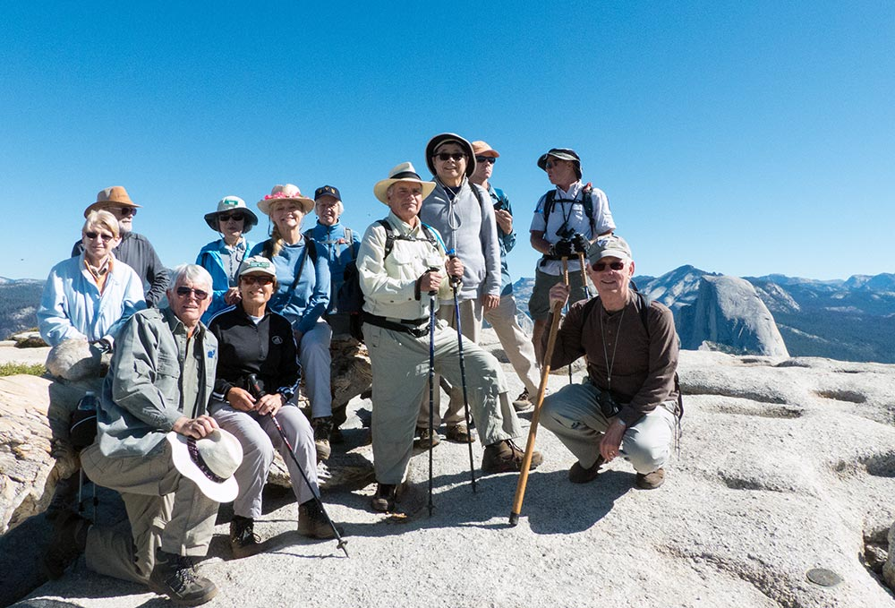 On Sentinel Dome, Half Dome to the right - photo by Keith Sauer