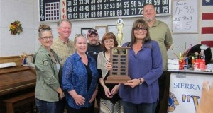 Winning by just one point was the Sierra News Online team including friends, family and staff: L-R Lisa, Dave, Kellie, David, Jerry , Doug and publisher Gina Clugston