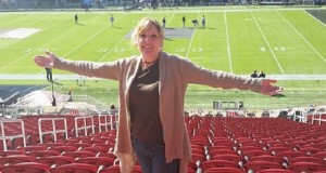 Super Bowl 50 Cindy Tanoury CROPPED in the stadium photo courtesy Cindy Tanoury