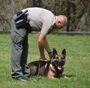 Deputy Brian Lunquist with K9 partner Arthur - photo by Gina Clugston