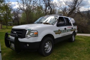Mariposa County Sheriff's K9 Unit SUV - photo by Gina Clugston