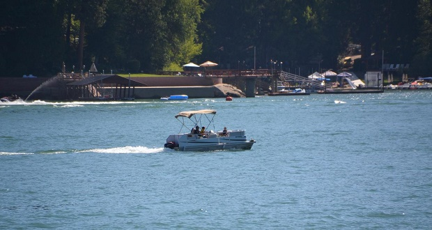 Boating on Bass Lake - photo by Gina Clugston