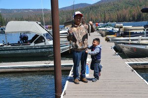 Chor and Ryan Vue with $10,000 fish in Bass Lake Fishing Derby 2016 - photo by Gina Clugston