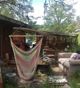 Three Springs patio area where mountain lion attacked cat