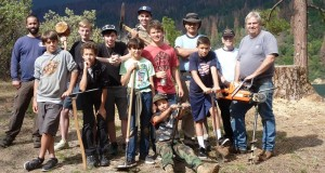 North Fork Scout Troop 357 planting trees near Bass Lake 800x427