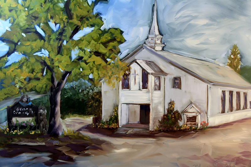 Grace Community Church Painting