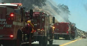 July 7 2016 ONEALS Cal Fire responds three trucks CROPPED by Lisa Clark