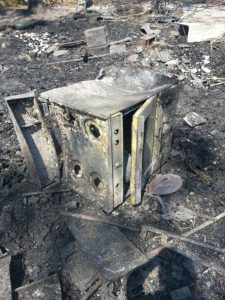 Fork Fire 2016 Leia Wentworth burned out stove