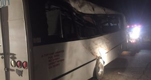 Bus crash on Highway 41 near Sugar Pine - photo courtesy ABC30