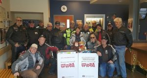 Decrepit Riders and Bikers for Christ recently dropped off bikes full of toys for the CHP Toys for Tots drive in Oakhurst