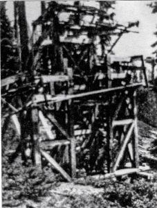History Mystery 47 Star tram summit crossover structure - photo courtesy Fresno Flats