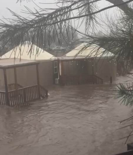Floodwaters Float Yurts Down Fresno River