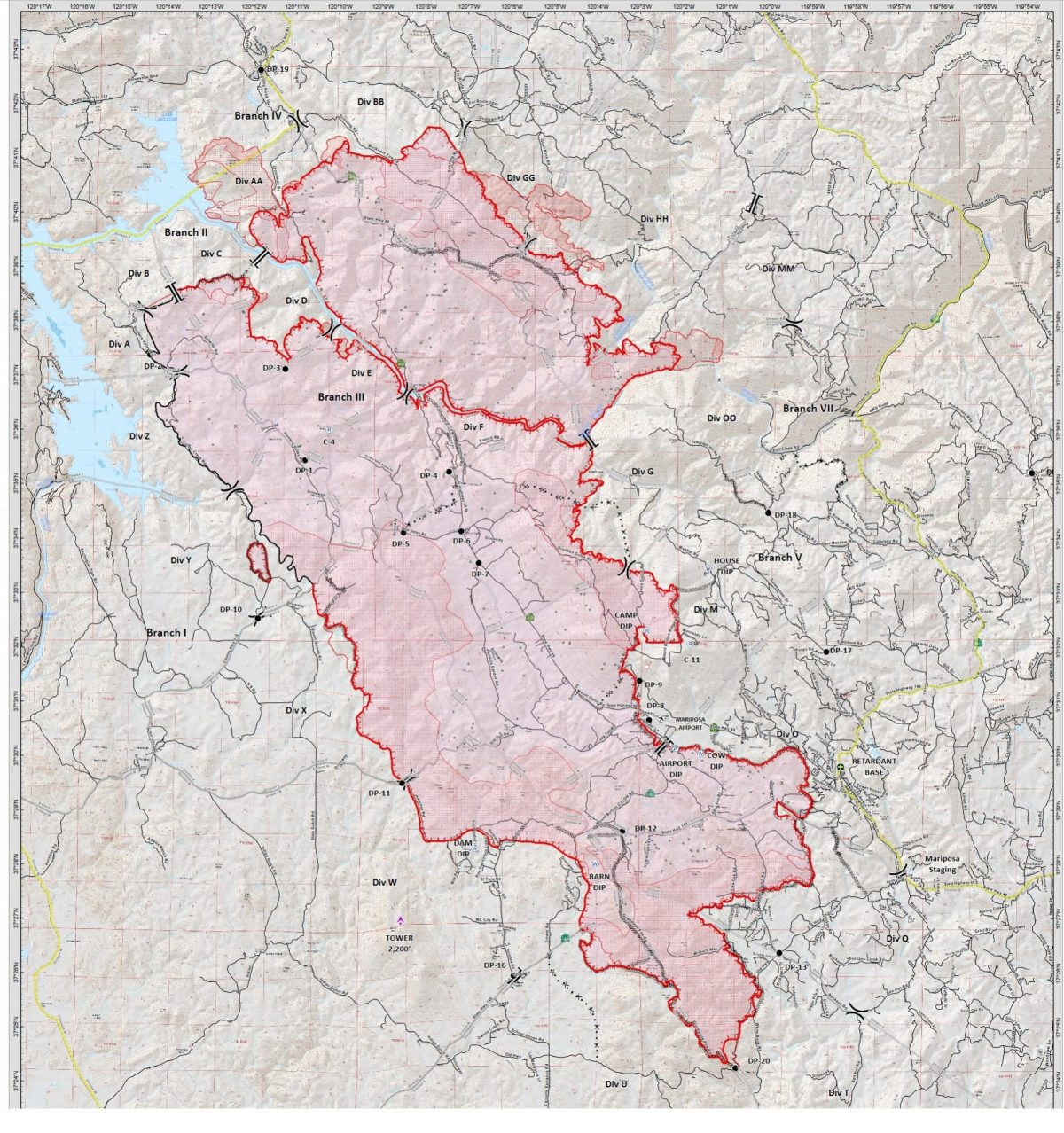 Cal Fire Map >> Good Progress On Detwiler Fire Now 25 Percent Contained | Sierra News Online