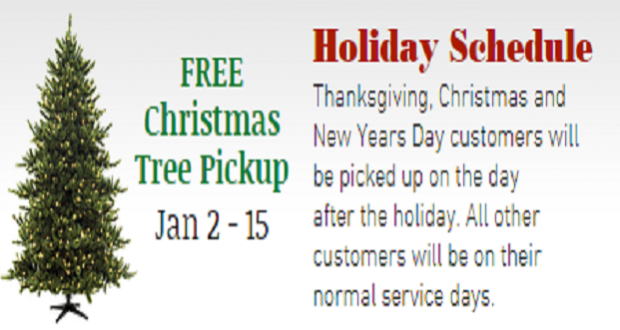 EMADCO Disposal Dates For Christmas Tree Pick-Up