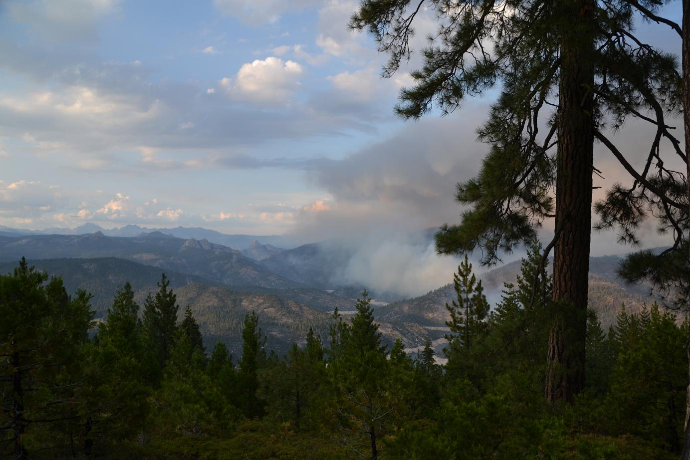 Northern part of fire from Mile High - photo Gina Clugston
