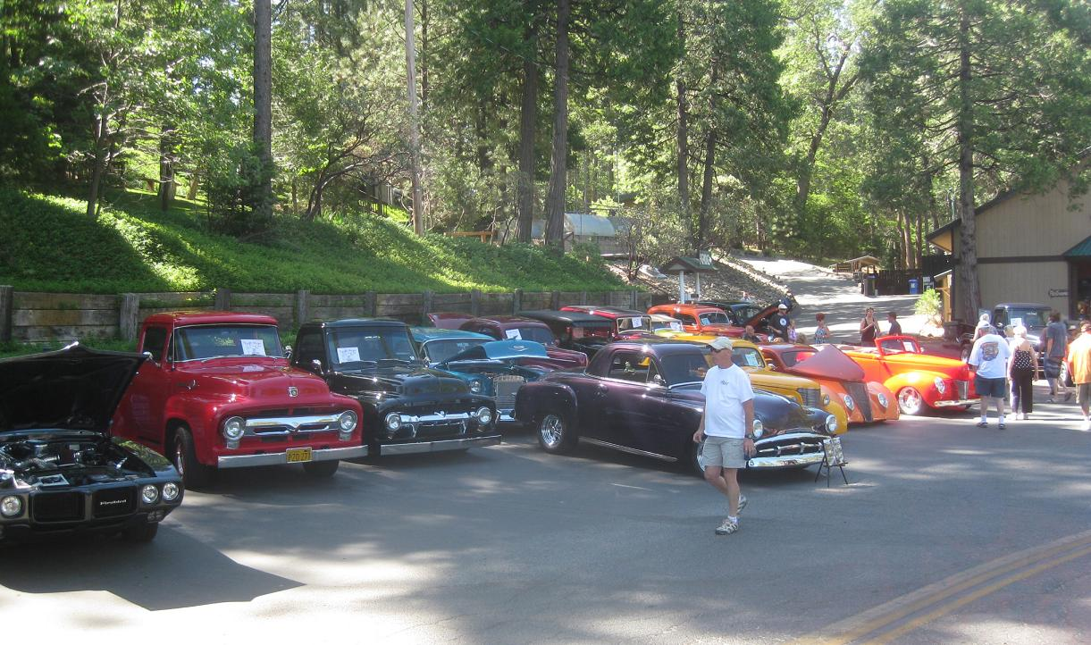 View of some of the cars