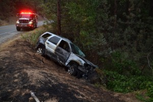 Ford Escape catches fire after crash on Road 223