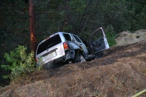 Ford Escape hits tree after crash on Road 223