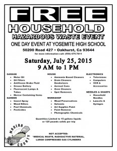 Free Household Waste 2015