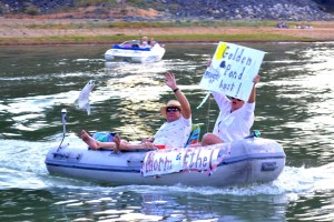 Golden Pond or Bust! at Bass Lake 4th of July - photo courtesy of Miller's Landing