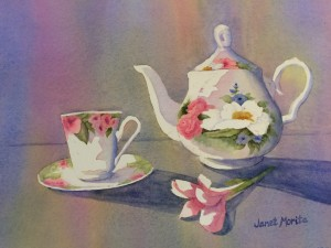 Janet Morita Tasteful Art collaboration with Time for Tea