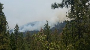 July 30 photo by Jessica Fairlight Young - the view from Cascadel Heights at about 3 pm