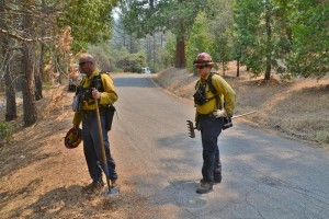Kern County firefighters on Peckinpah Acres Drive