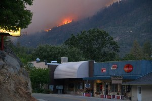 Willow Fire above North Fork - photo by Gina Clugston