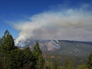 Willow Fire from Goat Mountain - photo by Virginia Lazaar