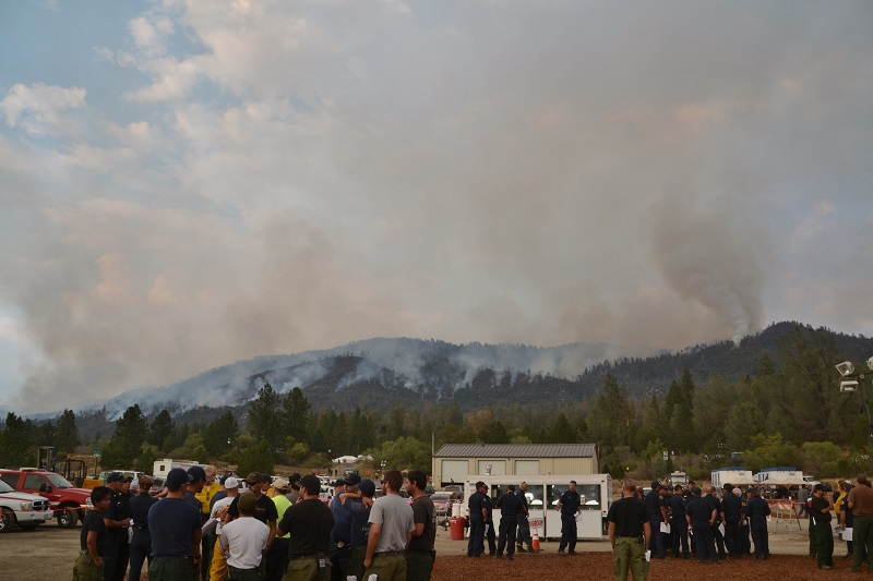 Willow Fire over evening briefing 7-31-15