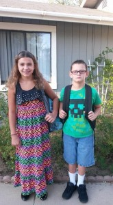 Destiny 5th grade and Brannen 3rd Grade. OES school submitted by Brandy Newberry