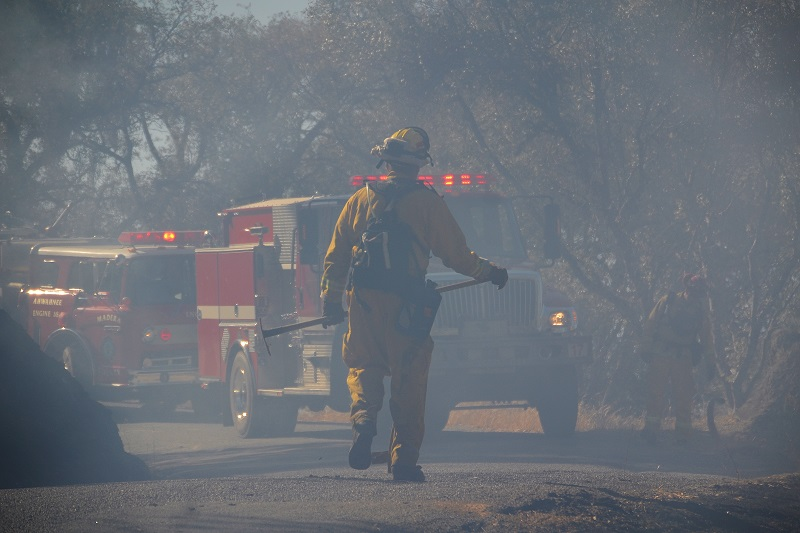 Firefighter on the Green Fire - photo by Gina Clugston