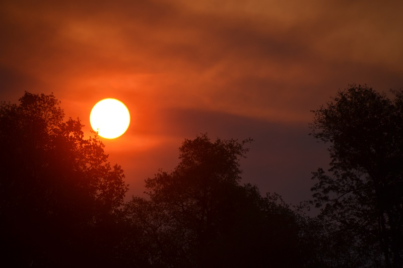 Morning sun over Willow Fire - photo by Gina Clugston