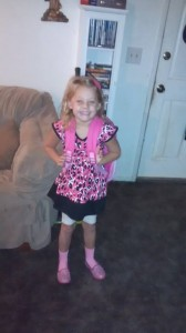 Riley Ross first day of kindergarten (Ross Jake Laura)