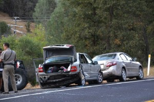 Volvo and Toyota Camry in Hwy 41 crash at Broken Bit