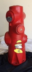 Back of fire hydrant