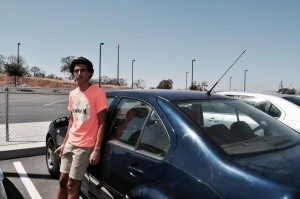 Dallin in front of his car - photo by Lluvia Moreno
