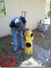 Donated fire hydrant