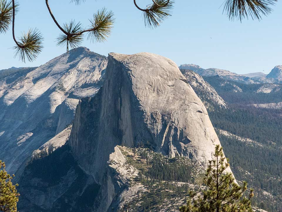 Half Dome from the Pohono Trail
