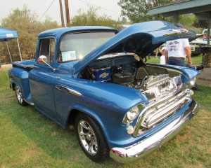 Kiwanis Run for the Gold 2015 blue truck - Larry Langley